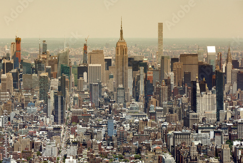 New York cityscape. Top view on New York City. Wallpaper Mural