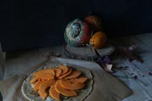 Delicious Pumpkin Galette On Baking Parchment