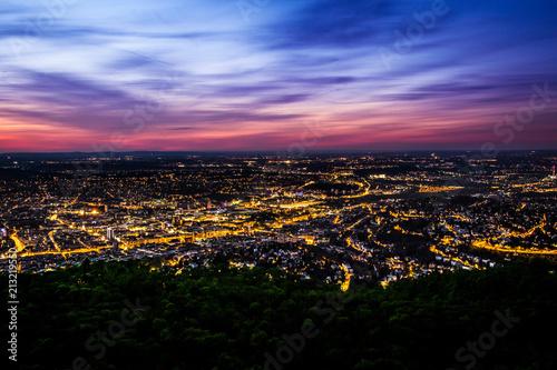 Fotografering  Stuttgart vom Fernsehturm
