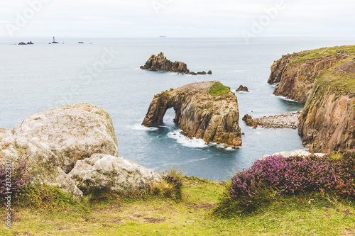 United Kingdom, Cornwall, Enys Dodman Arch at Land's end