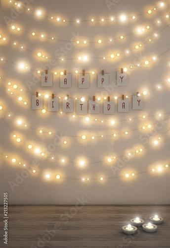 Fairy Lights On The Wall Ilration