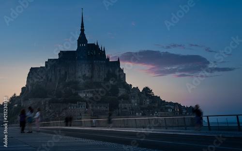 Poster Monument Abadia de Mont Saint Michwl , Normandia; Francia