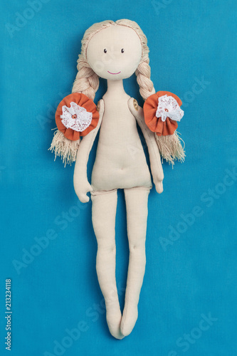 Photographie  Handmade doll without clothes