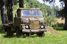 Old Weathered Military Truck