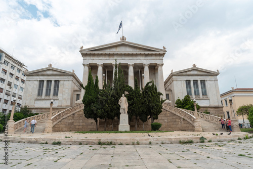 Staande foto Athene Athens, Greece - May 8, 2018. National Library in Athens - Greece