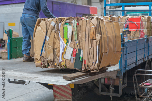 Fotomural Cardboard Bale