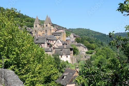 Fotomural Village de Conques, Aveyron, France