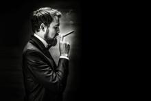 Smoking Gentleman Portrait