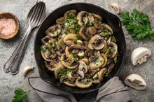 Fried Champignon Mushrooms