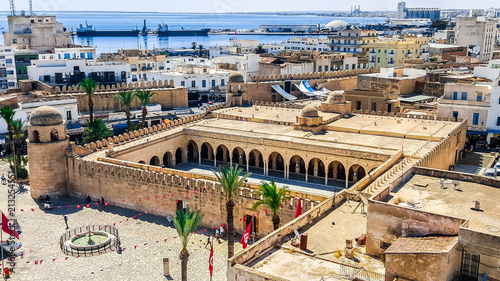 Foto The Grand Mosque of Sousse. UNESCO World Heritage Site. Tunisia