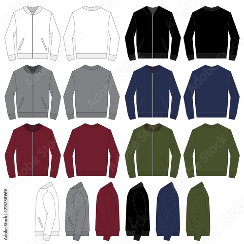 Fotomural Vector template for Bomber Jackets