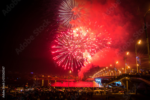 Foto op Plexiglas Artistiek mon. Holiday fireworks