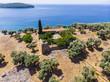 canvas print picture Blick von der Bucht von Milina auf die Insel Alatas mit den Kloster Holy Forty, Trikeri-Milina, Region Volos, Meerenge von Trikiri, Halbinsel Pilion, Pagaitischer Golf, Griechenland
