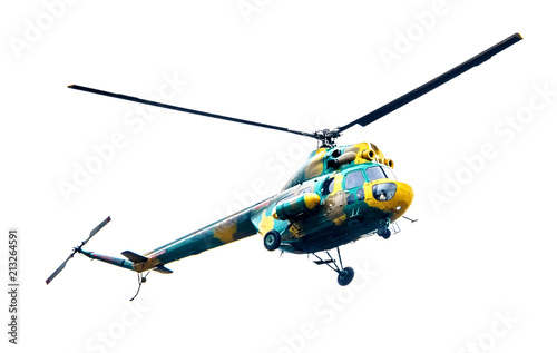 Deurstickers Helicopter helicopter isolated on white background