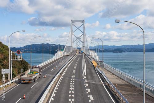 Fotografie, Tablou  Great Naruto bridge cross over ocean