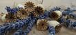 Symbiose von Lavendel-Blüten mit Mohn-Samenkapseln
