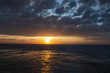 Wonderful sunset on the high seas, wonderful nature