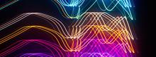 Banner Multicolored Fractal Blurred Background