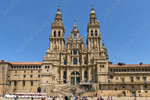 Historic Santiago de Compostela cathedral in Galicia, Spain.