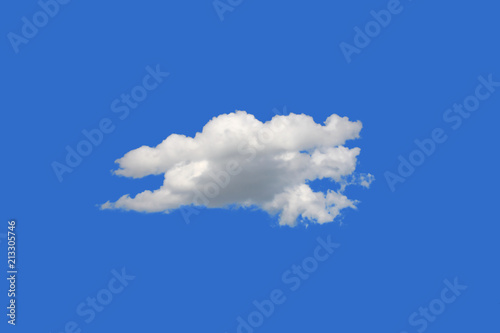 White cloud isolated on blue background,include Clipping path or alpha channel Wallpaper Mural
