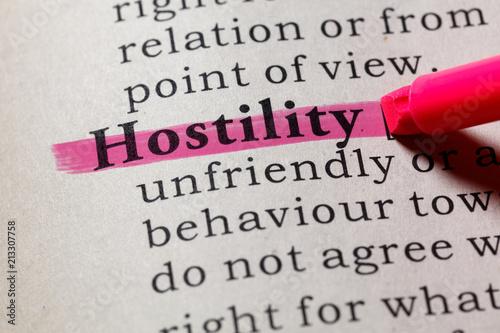 Photo definition of hostility