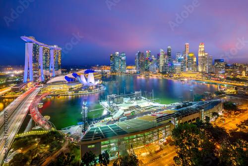 Keuken foto achterwand Asia land Singapore downtown skyline