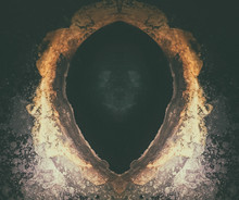 Skull Face Shown In An Abstract Mirror