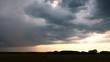 Summer grass field view before storm