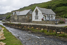 Traditional Houses In Boscastle