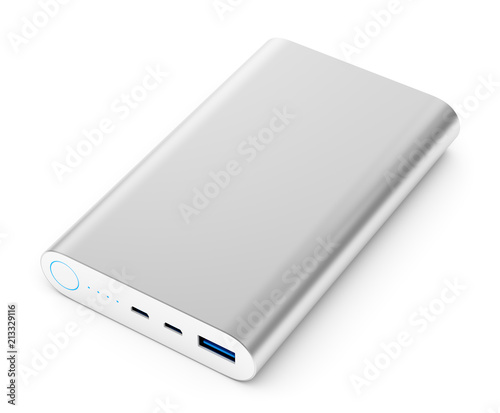 Power bank isolated on white background