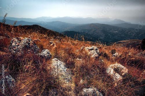 In de dag Diepbruine Sicilian Highlands in Italy, Europe
