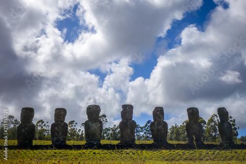 Foto op Aluminium Centraal-Amerika Landen Moais statues, ahu Akivi, easter island