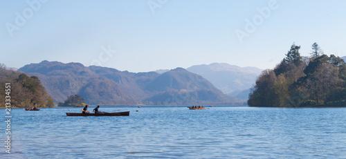 Tableau sur Toile Canoeing on Derwent Water