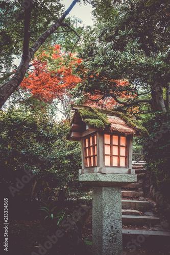 Keuken foto achterwand Asia land Lamp in Jojakko-ji temple, Kyoto, Japan