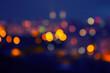blurred city at night