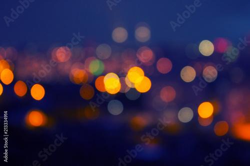 Fototapeta blurred city at night obraz na płótnie
