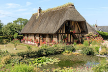 Old Traditional Cottage In Normandy France