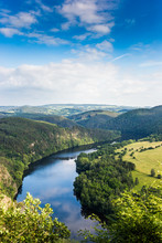 View Of Vltava River From Solenice Viewpoint, Czech Republic