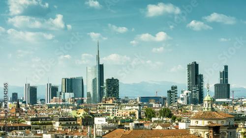 Spoed Fotobehang Milan Milan skyline with skyscrapers of Porto Nuovo