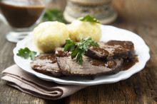 Original German Sour Beef With Potato Dumplings