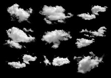 Collection Of White Clouds Iso...