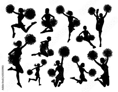 Fotografía Cheerleader Silhouettes