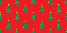 Christmas Tree Seamless Pattern Vector Santa Claus Snowman New Year Tile Background Repeat Wallpaper Scarf Isolated