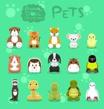 Animal Dolls Pet Set Cartoon V...