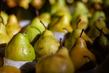 Bunch of fresh pears