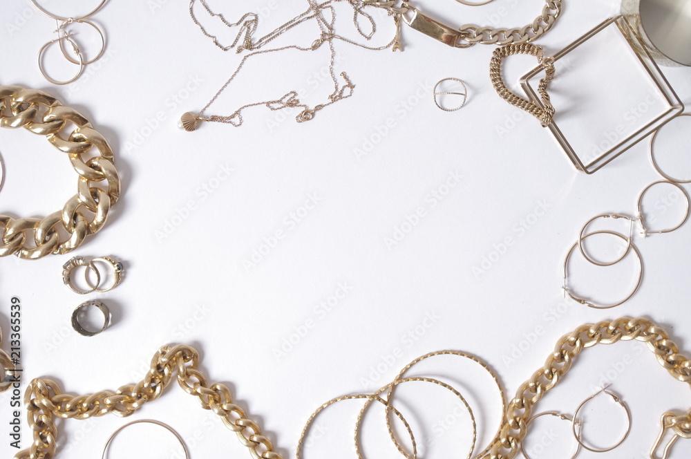 Fototapety, obrazy: fond bijoux or