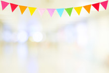 Colorful Party Flags Hanging O...