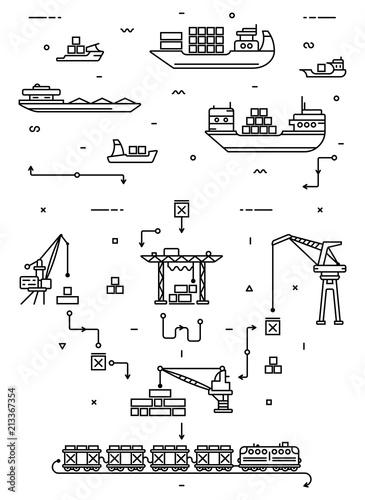 Fotografía Global cargo logistics concept