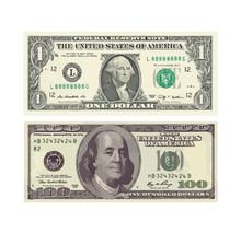 A Hundred-dollar And One-dollar Bill. Vector Illustration