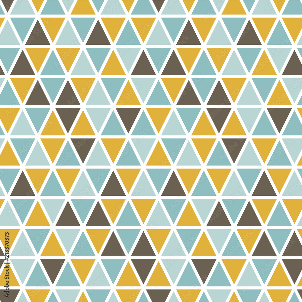 Seamless pattern with random triangles. Scandinavian style. Abstract geometric vector background.